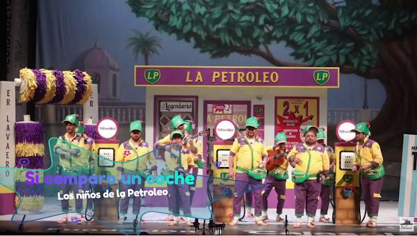 """Pasodoble con LETRA """"Si comparo un coche"""". Chirigota """"Los niños de la Petroleo"""" (2020)"""
