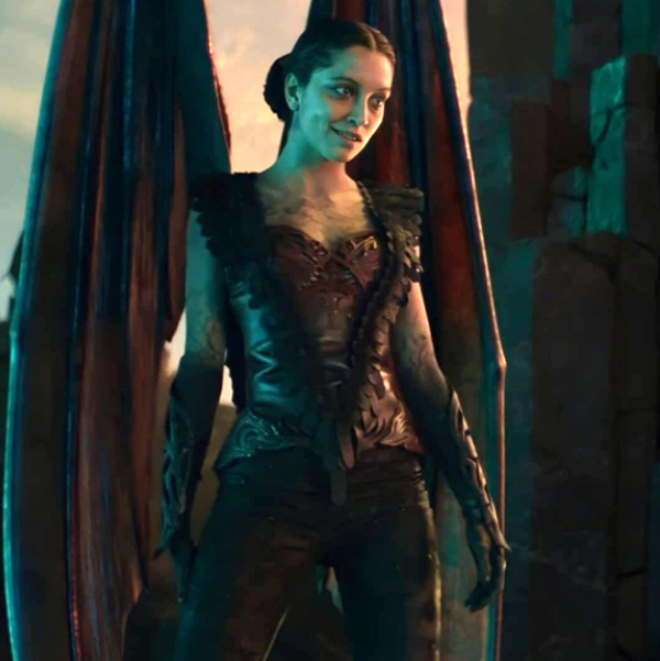 Nitara (Mel Jarnson) isn't half the vampire she used to be by the end of MORTAL KOMBAT!