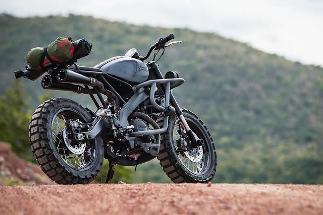 Yamaha XSR155 By K-Speed Hell Kustom