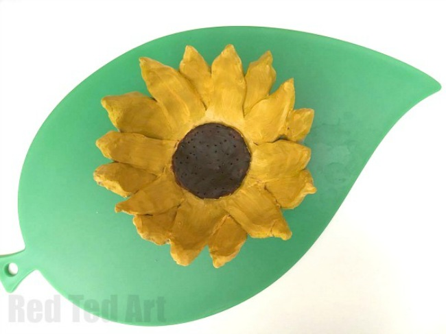 Clay Craft Ideas For Kids Part - 34: Clay Craft Ideas For Kids. Sunflower Clay Bowl Made From Air Drying Clay.