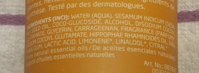 Weleda Crema de Ducha de Espino Amarillo: Ingredientes