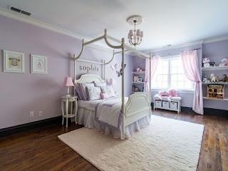 cuarto rosa y lila
