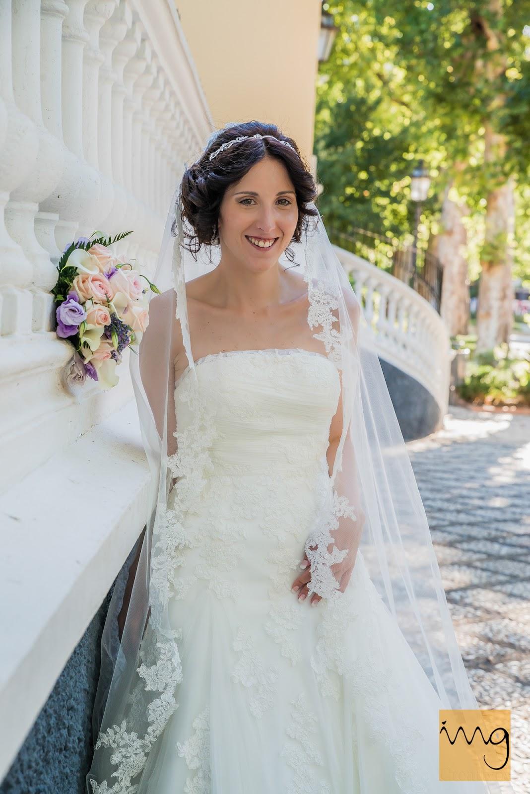 Foto de la novia en el salón