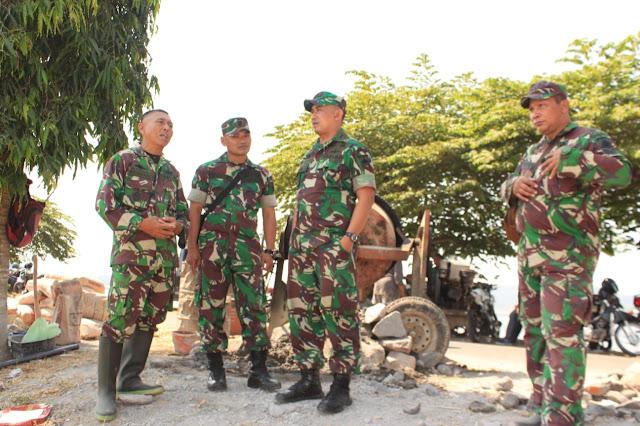 Semangati Prajurit dan Warga, Dandim Klaten Kunjungi Pelaksanan TMMD Reg 105 DI Jimbung