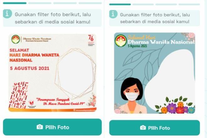 Download di Sini 15 Twibbon Bingkai Foto Profil Hari Dharma Wanita Nasional 2021
