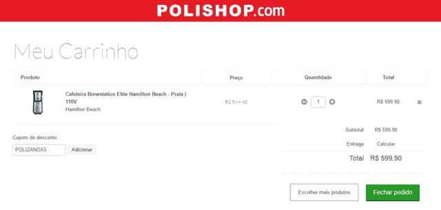 Aprenda a usar um cupom Polishop