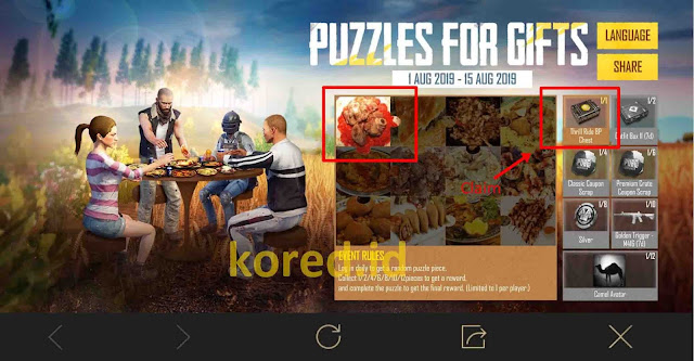 Event Puzzles For Gifts PUBG Mobile