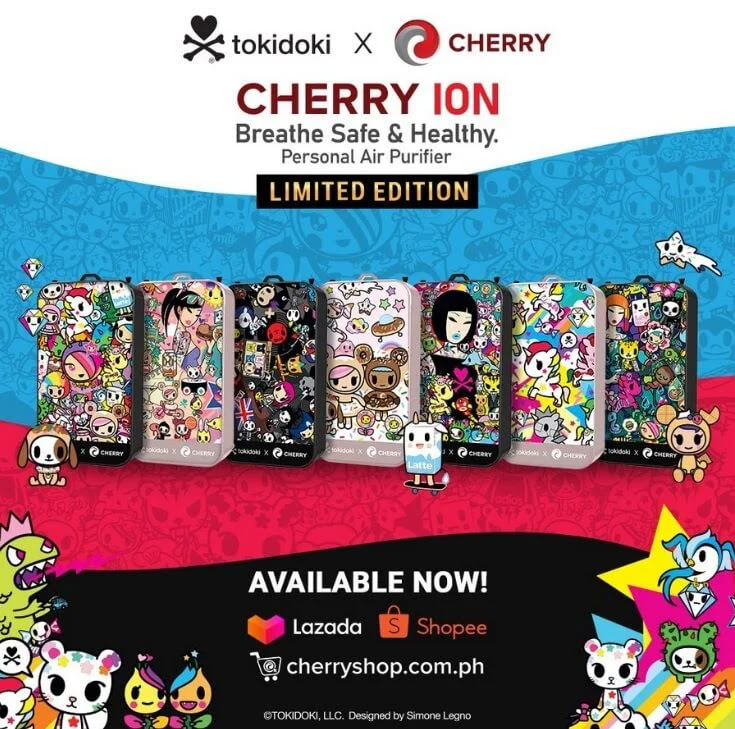 Cherry Ion Now Available in Iconic Tokidoki Designs by Simone Legno
