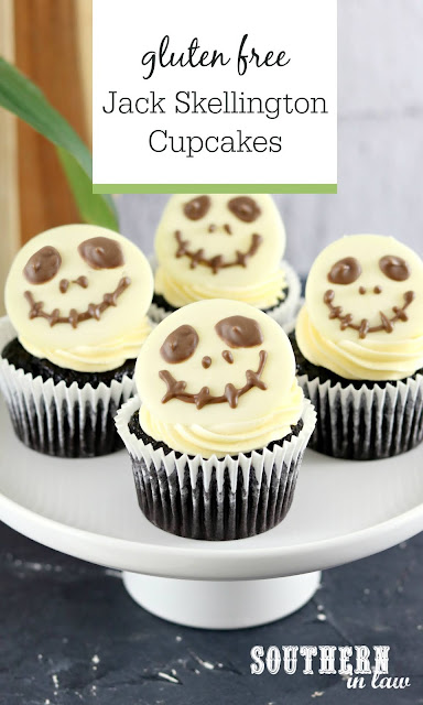 Easy Jack Skellington Cupcakes Recipe - gluten free, disney desserts, easy halloween dessert ideas