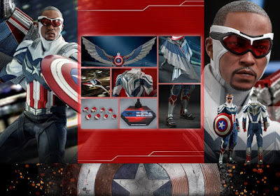 Hot Toys The Falcon & The Winter Soldier Sam Wilson Captain America 1/6 Scale Figure Official Images