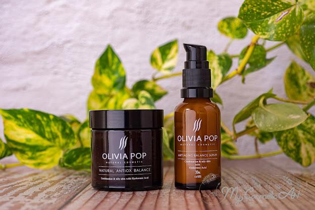 Mi experiencia con Olivia Pop: sérum y crema facial equilibrantes.