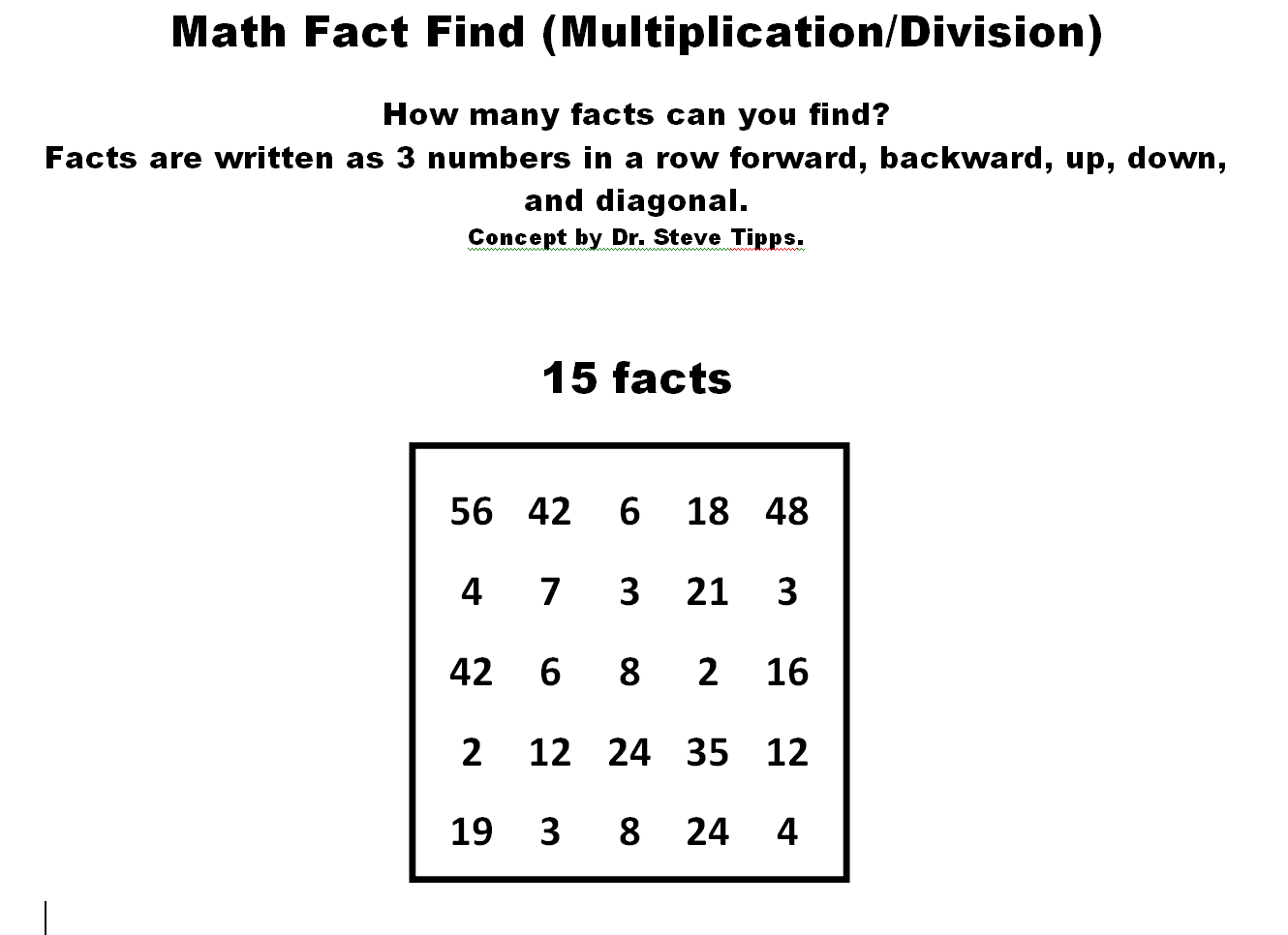 Math Facts Fluency Blog
