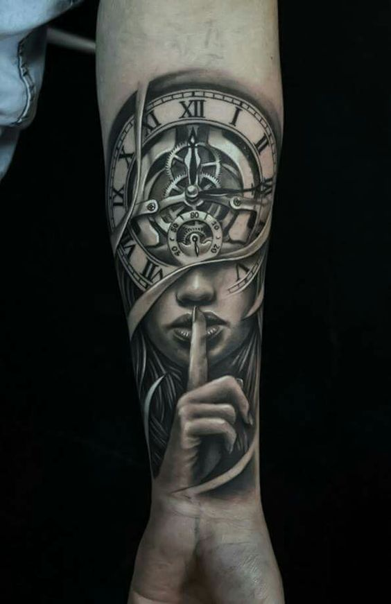 Amazing Arm Clock Tattoo Designs