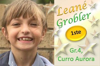 Leané Grobler, Gr.4 WEN met haar WONDER-toespraak by Curro Aurora, Randburg!