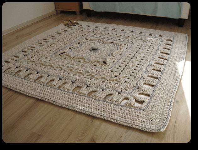 Free Step By Step Crochet Rug Yarn Simple
