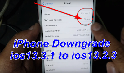 How To Downgread iPhone ios 13.3.1 To ios13.2.3 iCloud Activation Lock Phone