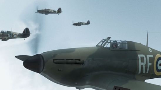 Hawker Hurricanes in flight in Hurricane (Mission of Honor)