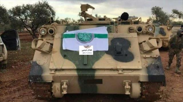 Vehículos blindados de EEUU en manos de terroristas en Siria
