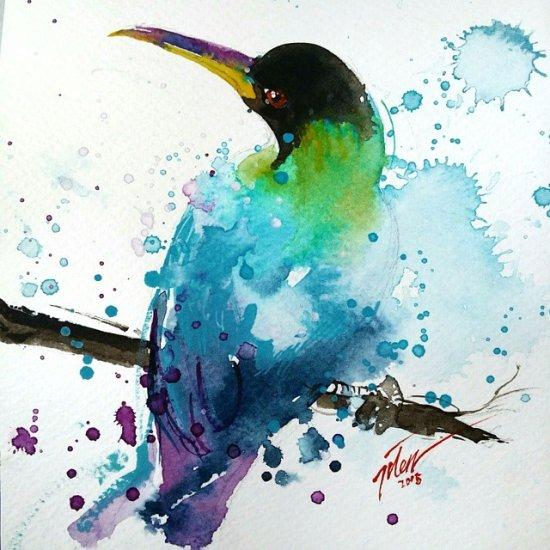 Tilen Ti pinturas aquarela colorida animais