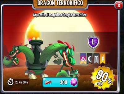 imagen de la oferta del dragon terrorifico de dragon city