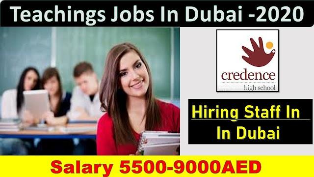Credence School Hiring Staff In Dubai | Teaching Jobs In Dubai |