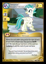 My Little Pony Terramar, Shoreline Lifestyle Friends Forever CCG Card