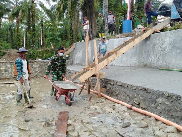 Pengabdian Sang Prajurit Satgas TMMD Ke-112 Kodim 0207/Simalungun Pada Pembangunan Bendungan