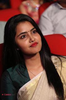 Actress Anupama Parameshwaran Pictures in Saree at A Aa Music Launch  0069.JPG