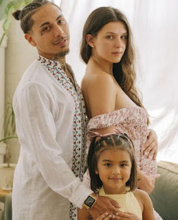 Raegan Brogdon with her husband and their daughter