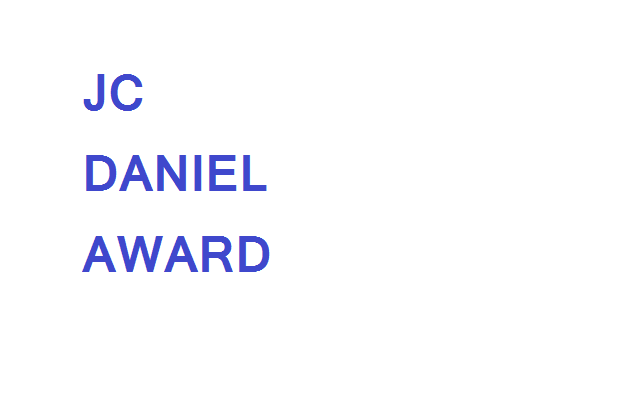 JC Daniel Award (List of Winners 1992-2018)