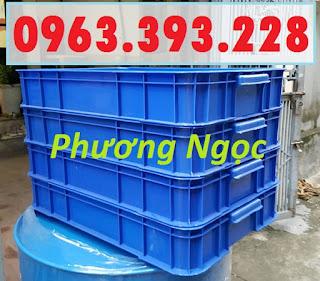 Thùng nhựa đặc HS025, thùng nhựa nguyên sinh có nắp, thùng đựng đồ cơ khí