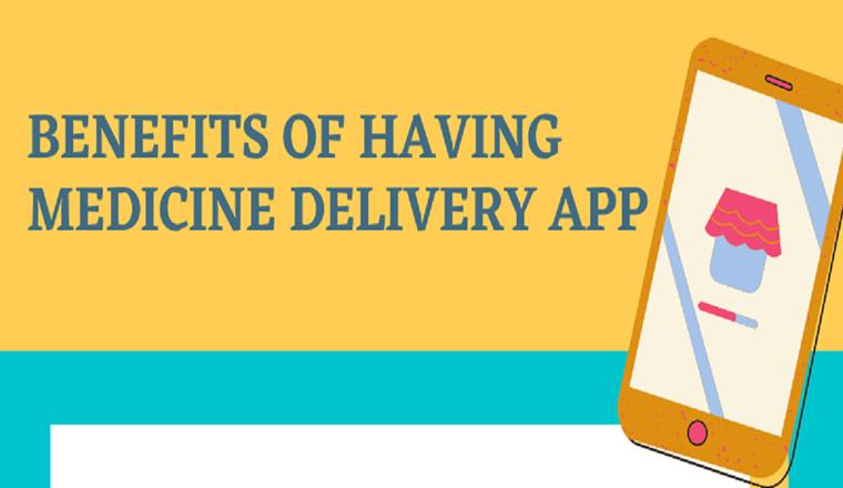 Benefits of having medicine delivery app #infographic