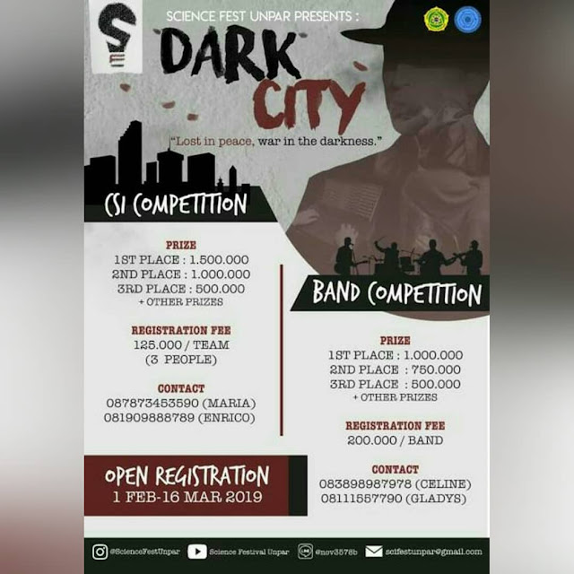 Event Dark City 2019 SMA Sederajat di Bandung