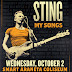 Catch Sting performs in Manila on October 2 at Smart Araneta Coliseum