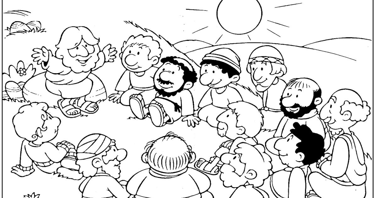 El Renuevo De Jehova: El Sermon del Monte - Imagenes para colorear ...