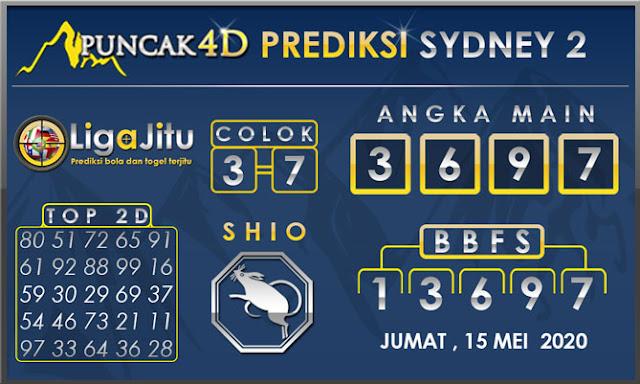 PREDIKSI TOGEL SYDNEY2 PUNCAK4D 15 MEI 2020