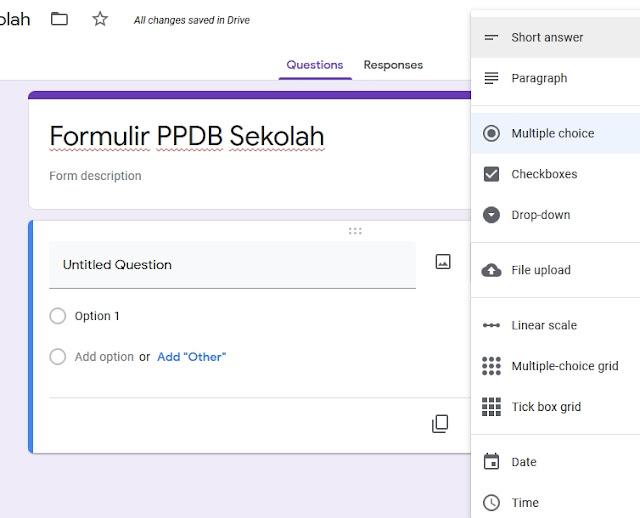 Formulir PPDB Pendaftaran Peserta DIdik Baru Online