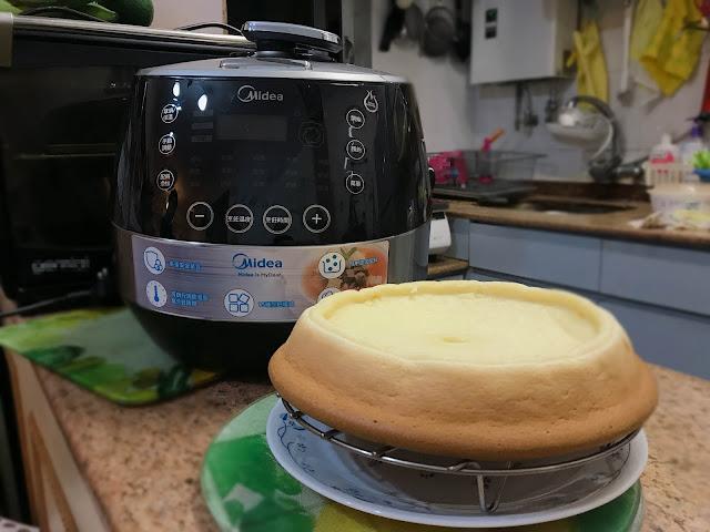 【Recipe】口感極讚 簡易日式芝士蛋糕*Midea 4.8L 全自動智能高速鍋