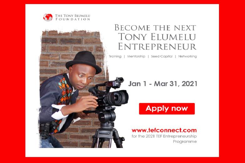 Tony Elumelu Foundation Entrepreneurship Programme - Calling Start-up African Entrepreneurs