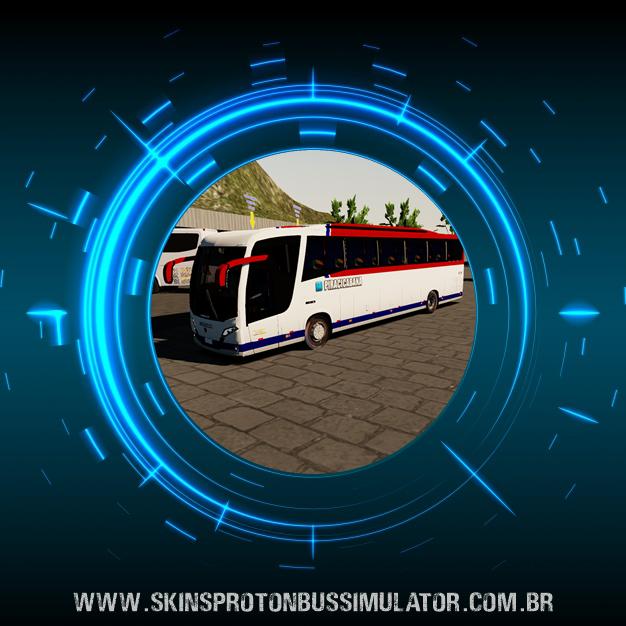 Skin Proton Bus Simulator Road - Busscar Vissta Buss MB O-500 RS BT5 Piracicabana