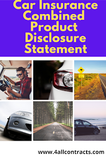 Example of Car Insurance Combined Product Disclosure Statement