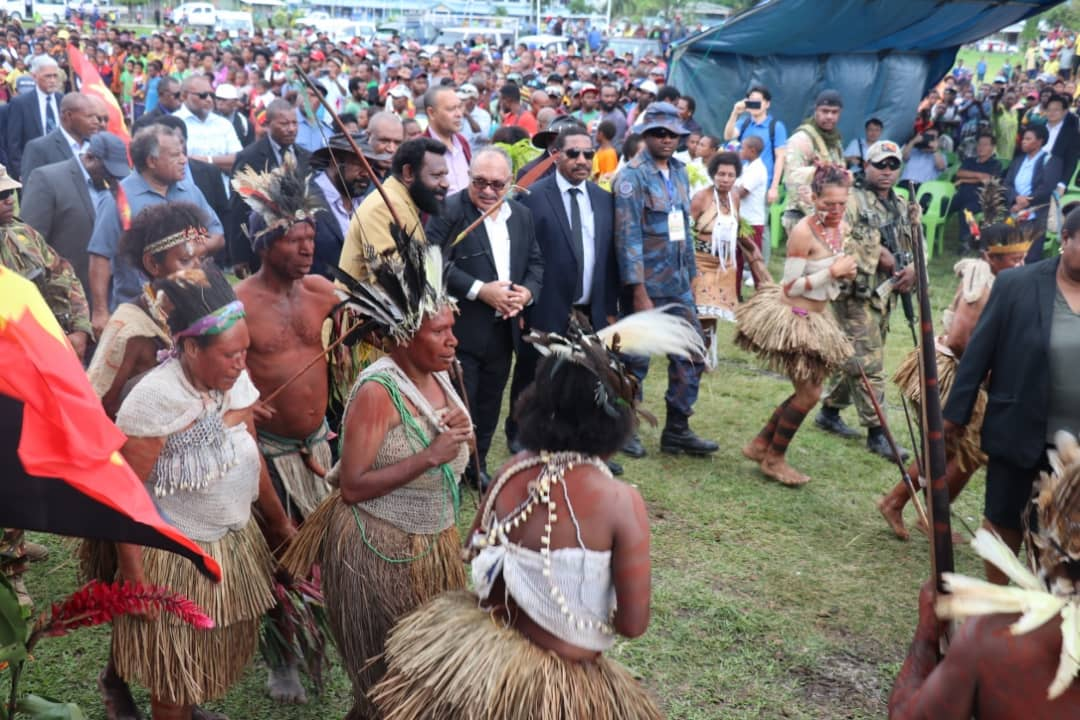PNG PM O'Neill launches Vanimo Airport Extension project