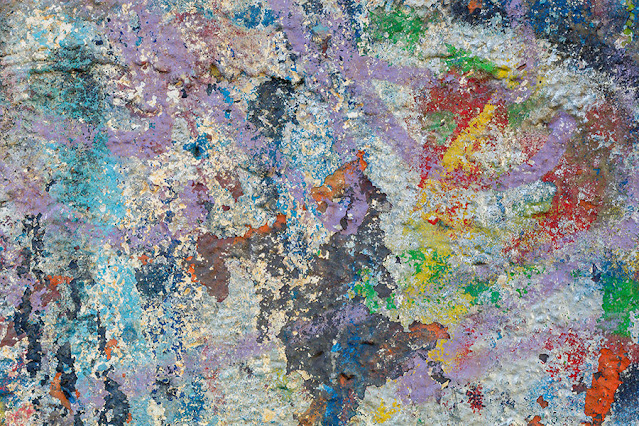 Old Weathered Painted Concrete Texture Free Image