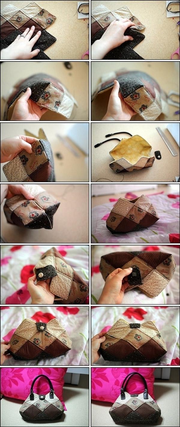 Quilted Bag Patchwork Purse Tote. Простая в шитье сумка печворк. Фото-инструкция