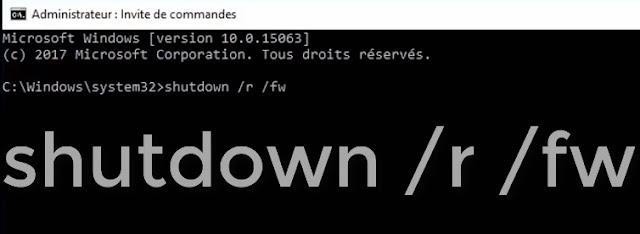 كيفية الدخول إلى UEFI MODE من داخل ويندوز 10