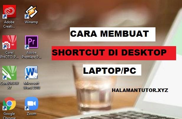 cara membuat shortcut di desktop