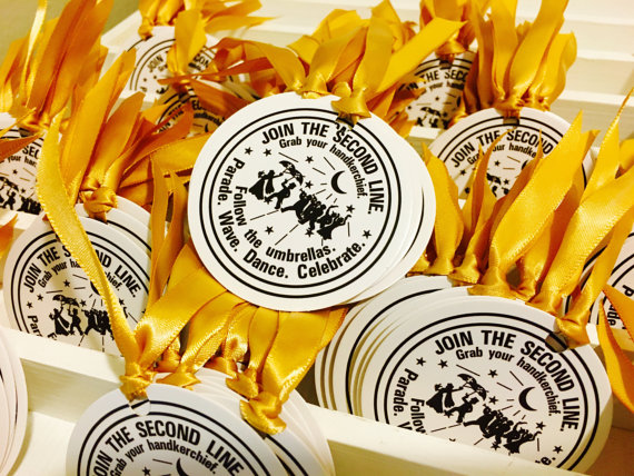 Second Line Handkerchiefs Explanation Cards History New Orleans Water Meter Design And Style Destination Wedding