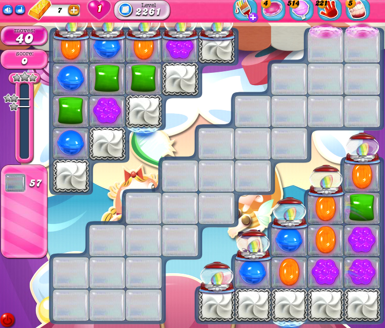 Candy Crush Saga level 2261