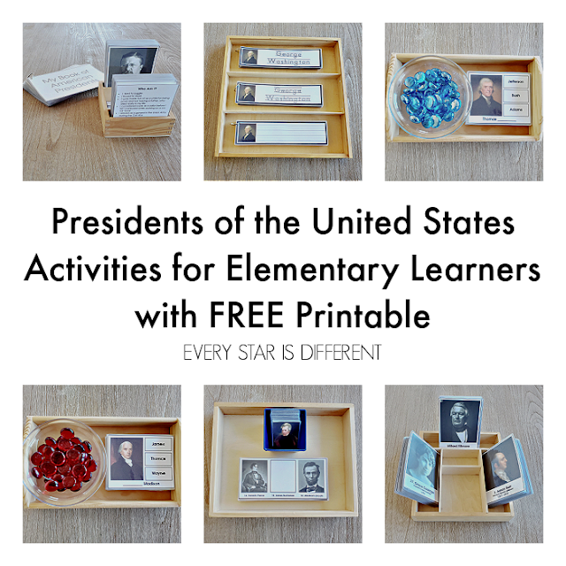 Presidents of the United States Activities for Elementary Learners
