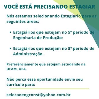 ESTÁGIO ENGENHARIA DE PRODUÇÃO